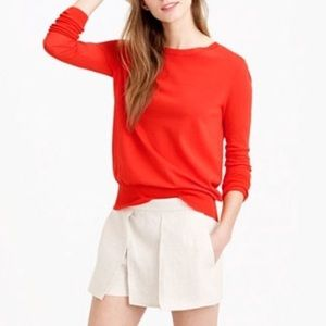 NWT J.Crew Red Tippi Wool Sweater Sz XXS